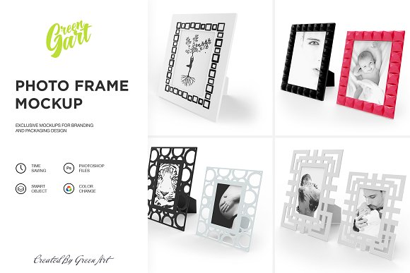 4 PSD Photo Frame Mockup