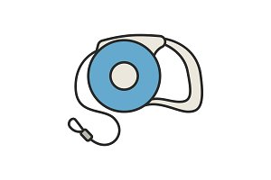 Retractable pet lead color icon