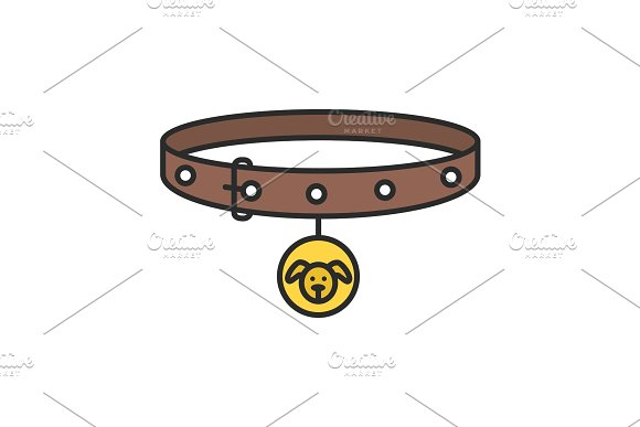 Dog's Neck Collar Color Icon