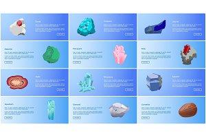 Aquamarine Ruby Malachite Agate Sapphire Carnelian