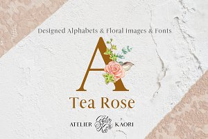 Tea Rose Alphabets
