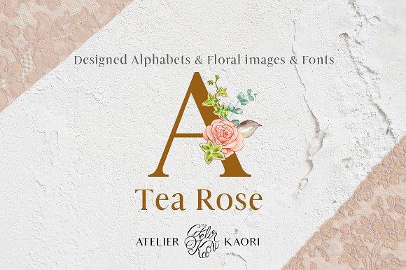 Tea Rose Alphabets