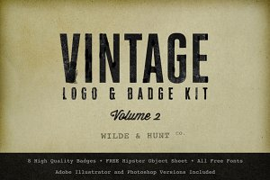 Vintage Logo/Badge Kit (Volume 2)
