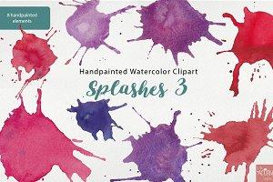 Watercolor Clipart Paintsplashes 3