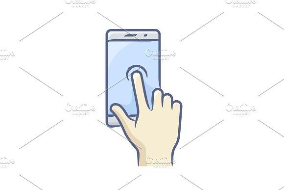 Smartphone Gesture Icon