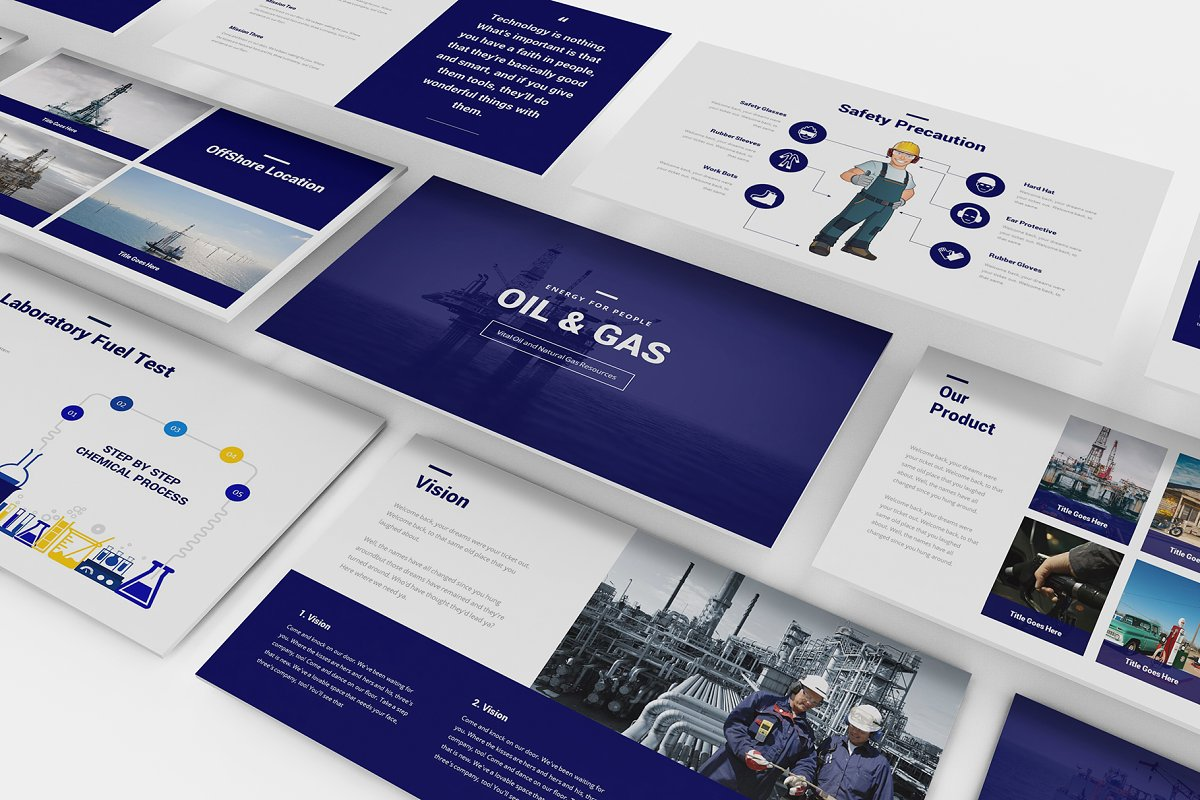 Oil And Gas Powerpoint Template Powerpoint Templates