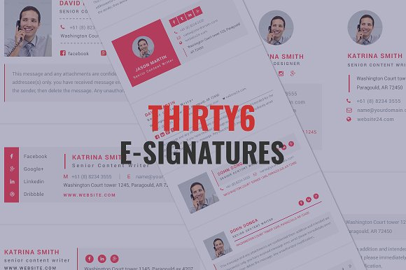 Thirty6 PSD Email E-signatures