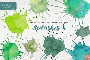 Watercolor Clipart Paint Splashes 4