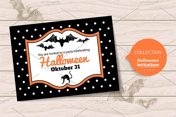 halloween invitations invitation templates creative market
