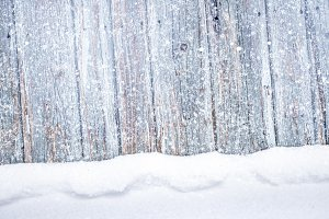 Falling Snow Wood Vintage Background