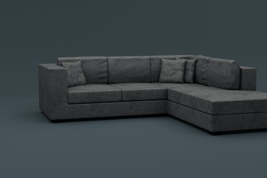 L Shaped Couch ~ Furniture Models ~ Creative Market