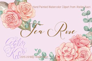 Tea Rose Clipart
