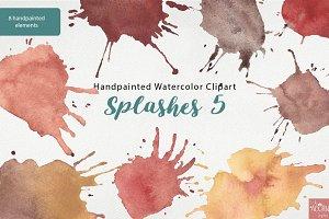 Handpainted Watercolor Splashes 5
