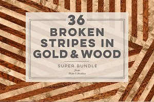 36 Broken Stripes in Gold & Wood