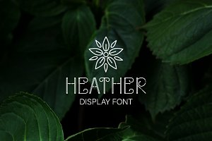 Heather - uppercase font