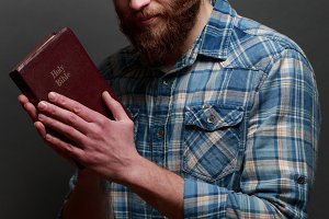 Hipster with Bible