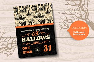 Halloween Hand Drawn Invitations