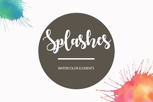 Watercolor Splashes Pack