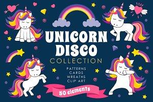 Unicorn Disco Collection - Clip Art