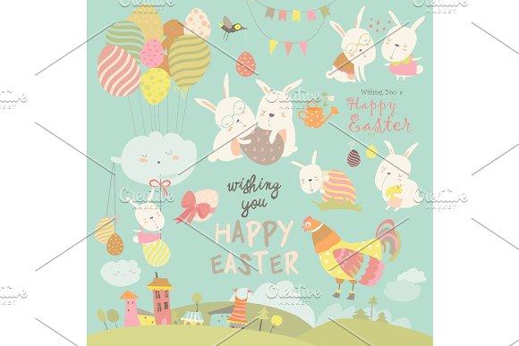 Animals Celebrating Easter