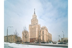 Stalin-era high-rise building in Moscow