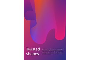 Trendy minimal cover or poster design template. Modern cover with twisting shape element.