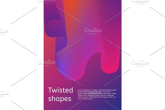 Trendy Minimal Cover Or Poster Design Template Modern Cover With Twisting Shape Element