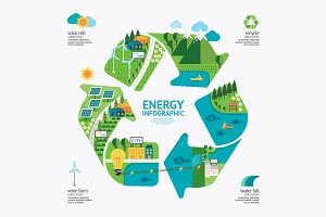 Infographic energy template design.