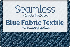 Seamless Blue Fabric Textile Texture
