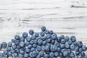 American blueberries background
