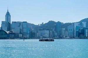 Victoria Harbor and Hong Kong Island