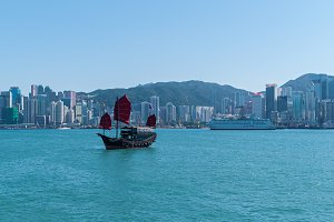 Victoria Harbor and Hong Kong Island