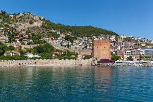 a fortress in Alanya.