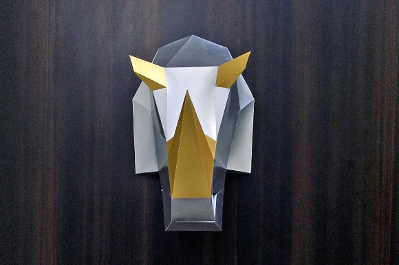 DIY Rhinoceros Head 3D Papercraft