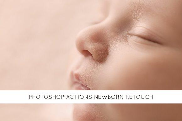 22 Photoshop Actions Newborn Retouch