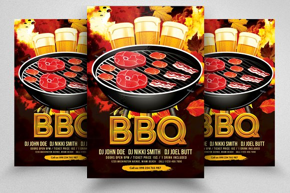 BBQ Fun Party Flyers Template