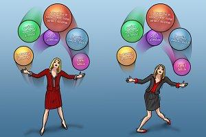 Business Woman Juggler