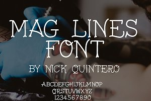 Mag Lines Tattoo Font
