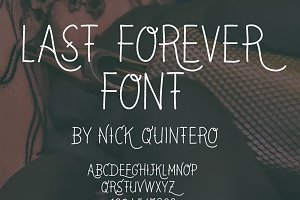 Last Forever Tattoo Font