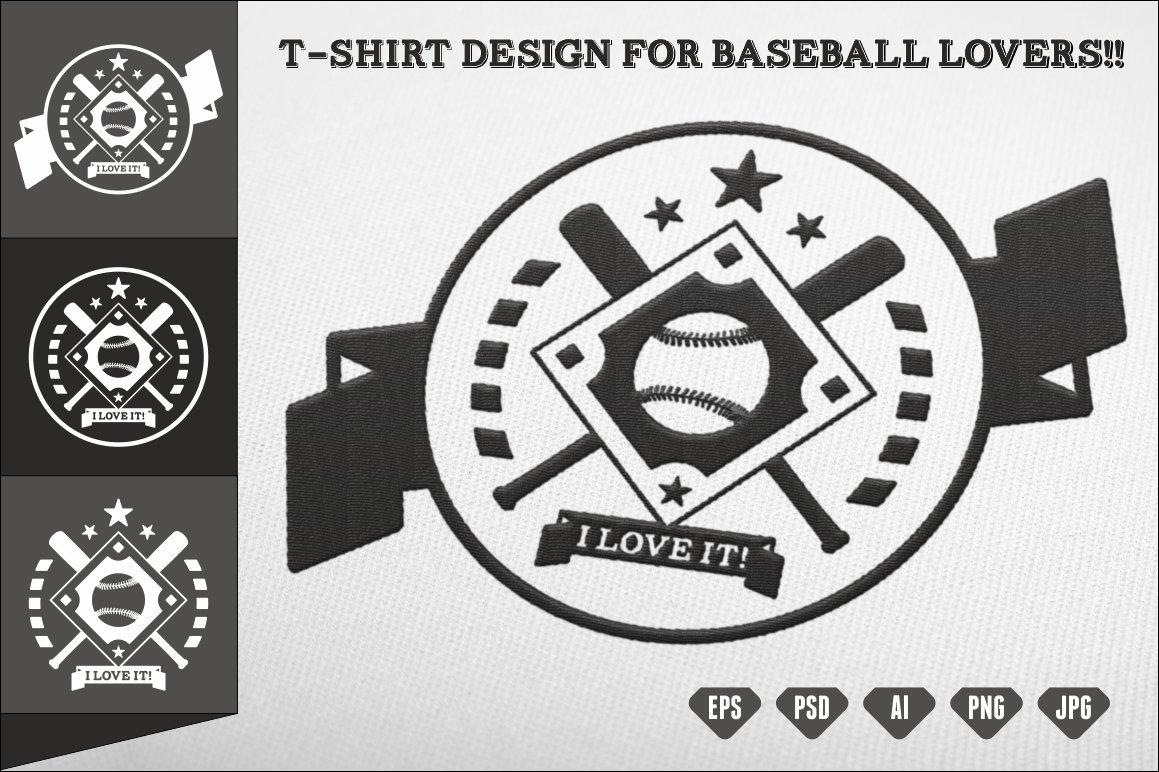t shirt design for baseball lovers illustrations