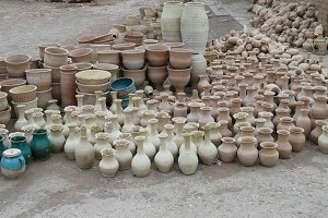 Unfinished pots at the streets of Isfahan