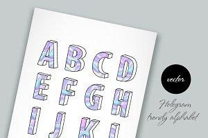 Modern holographic alphabet
