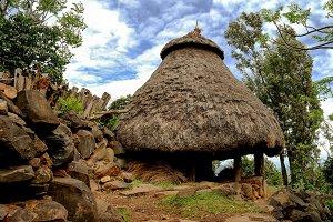 Traditional Konso tribe house, Ethiopia