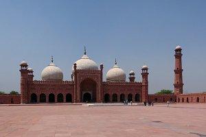 Prayer Hall of Badshahi or Imperial Mosque, Lahore Pakistan