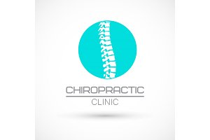 Spine chiropractic logo