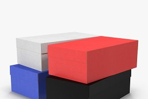 Colored Shoe Boxes Low-Poly
