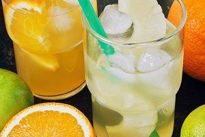 Pineapple and orange juice