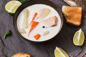 Scandinavian ,Norwegian fish soup
