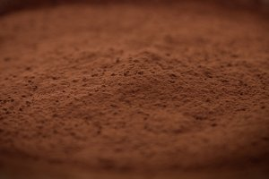 closeup macro of chocolate texture