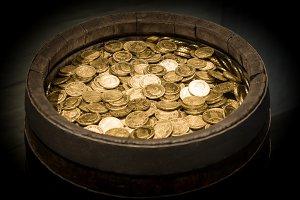 Gold Money Barrel